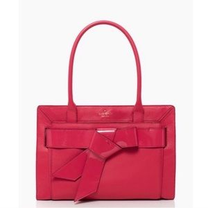 Kate Spade Hot Pink Bow Valley Helena Tote